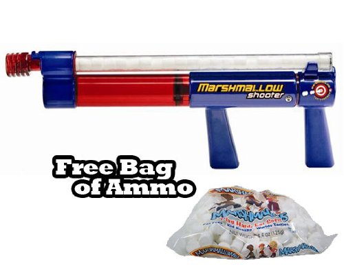 Marshmallow Shooter Toy Gun w/ Free Bag of Marshmallow