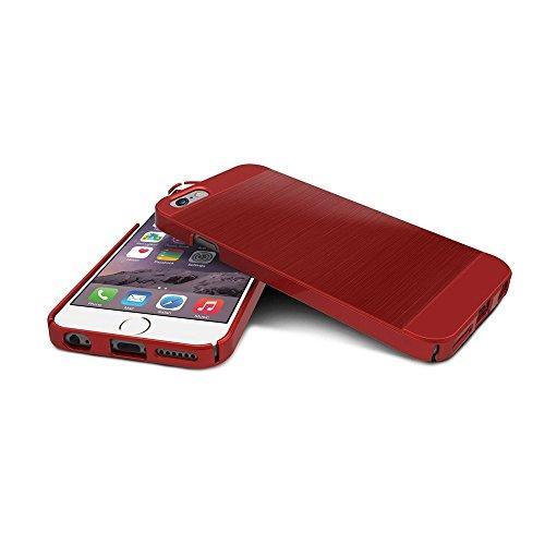 iPhone6s Plus / iPhone6 Plus ケース OBLIQ Slim Meta デュアルカラー ヘアラインデザイン スリム ハードケース for Apple iPhone 6s Plus / iPhone 6 Plus 5.5 インチ レッド 【国内正規品】