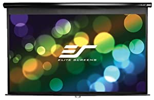 Elite M150UWH2 150 inch Manual Pull Down Projector Screen - Black