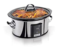 Crock-Pot Programmable Touchscreen Slow Cooker SCVT650-PS, 6.5-Quart, Silver