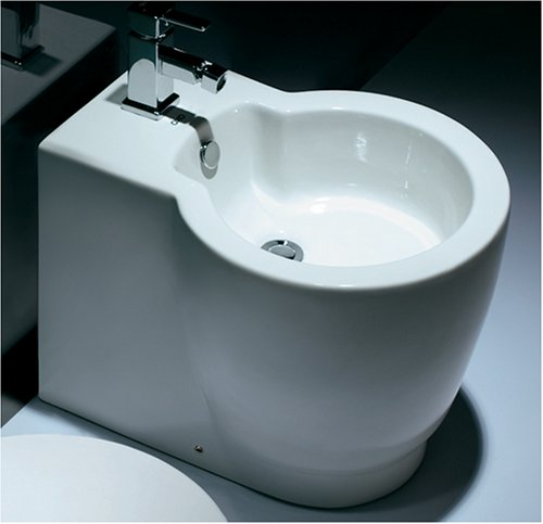 Buy Porcelain Bidet, Contemporary Italian Design, New #9002