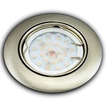einbaustrahler einbauleuchte spot rund eisen geb rstet drukguss alu mit 6 watt led lampe dee821. Black Bedroom Furniture Sets. Home Design Ideas