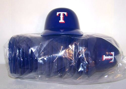 MLB Texas Rangers Mini Batting Helmet Ice Cream Snack Bowls- Pack Of 20 at Amazon.com