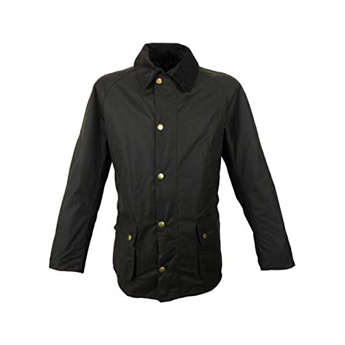 Barbour Ashby Mens Wax Jacket in Olive Green