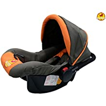 Baybee Baby Car Seat Cum Carry Cot With Canopy (Orange)