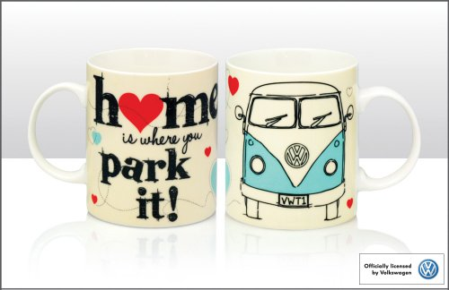 "Volkswagen VW Bus T1 - Tazza con motivo ""Home is where you park it!"""