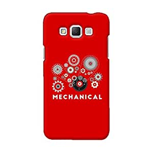 Gobzu Printed Back Covers for Samsung Grand Max - Mechanical Red