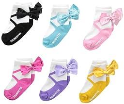 Trumpette Baby Girls\' New Ballerina, 6 pairs Toddler Sock Set, Multi, Large(12 24)