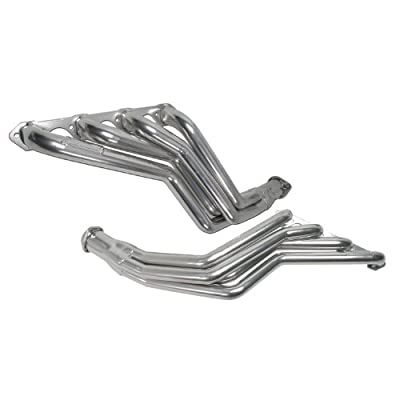 "BBK 15190 1-5/8"" Long Tube Full Length High Flow Performance Exhaust Headers for Ford Mustang 5.0L - Polished Silver Ceramic Finish"
