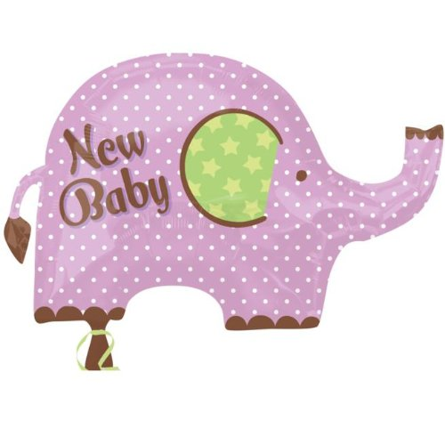 Party Destination - New Baby Elephant Foil Balloon