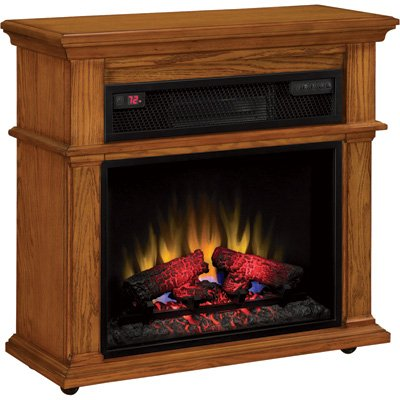 Duraflame Infrared Rolling Mantel Electric Fireplace - 1500 Watts, Model# 23IF1714-0107 photo