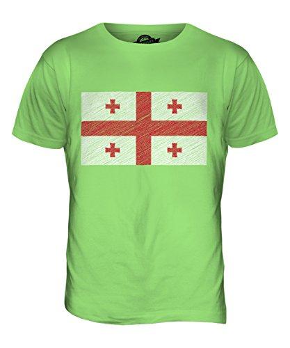 candymix-georgien-kritzelte-flagge-herren-t-shirt-grosse-x-large-farbe-limettengrun