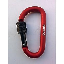 QUIPCO Coral Screwgate Accessory Carabiner - 8cms