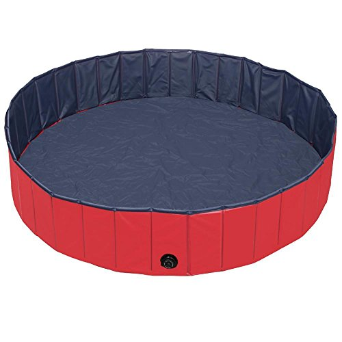 World Pride Foldable Pet Swimming Pool Red Different Sizes (Size L: 63 x 11.8