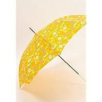 傘 かさ カサ 雨傘 長傘 婦人 雨具 お花畑柄 ジャンプ傘 レザーパール手元