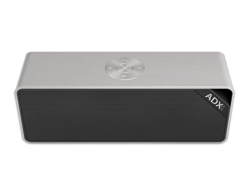 Audio Dynamix® Fusion V3, Diffusore Stereo Bluetooth V4.0 in Allumino con accoppiamento tramite NFC e 20 ore di riproduzione - Diffusore ad alta potenza con due diaframmi per i bassi. Compatibile con tutti i dispositivi Apple, Android e Windows.