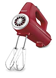 Cuisinart CHM-3R Electronic Hand Mixer 3-Speed, Red