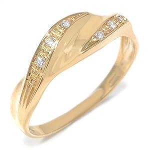 Gioie Bague Femme en Or 18 carats Jaune avec Diamant H/SI, Taille 53, 1.8 Grammes
