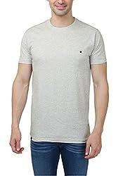 Hash Tagg Men's Cotton T-Shirt HT-3004_Cream_M