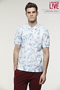 L!VE Tie-Dye Effect Printed Mini Pique Polo