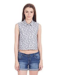 Femella Women's Button Down Shirt (DS-700687/457/BLU/XL)