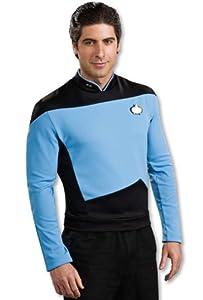 Star Trek the Next Generation Deluxe Blue Shirt, Adult Medium Costume