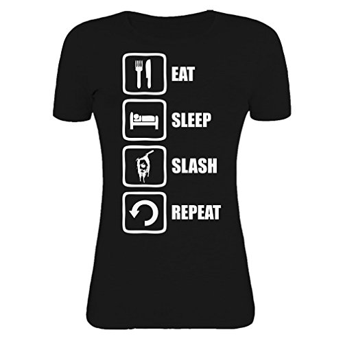 halloween-inspired-eat-sleep-slash-repeat-michael-myers-graphic-womens-t-shirt-x-large