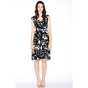 Suzi Chin Women's Graphic Nature Print Jersey Dress: Clothing from amazon.com