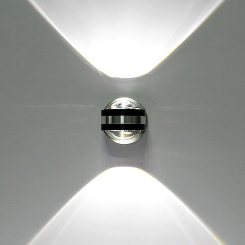 Lightess Lampada Inderna Applique LED da Parete Moderna di Alluminio Forma Sfera 6W per Camera da Letto Soggiorno Bagno Bianco Freddo