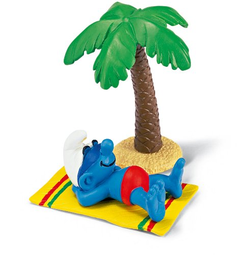 Picture of Schleich The Smurfs Smurf on Beach Pvc Figure Mib (B0002HWO7I) (Schleich Action Figures)