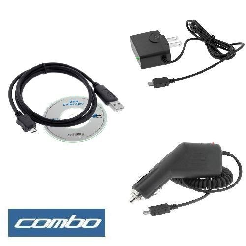 USB Data Cable + Rapid Car Charger + Home Travel Charger for Sprint LG Lotus LX600, LX400 Cell Phone