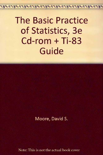 The Basic Practice of Statistics (Cloth), Cd-Rom & TI-83 Guide
