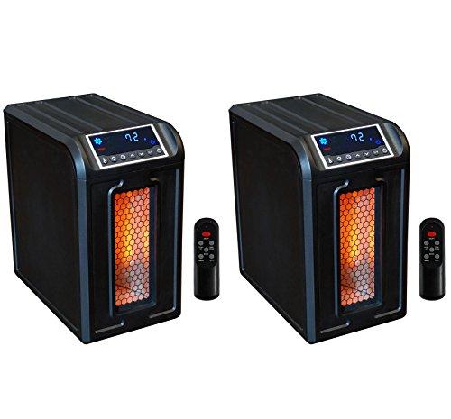 2 LifeSmart LifePro LS-3ECO 800 Sq Ft Portable 3 Element Infrared Quartz Heaters