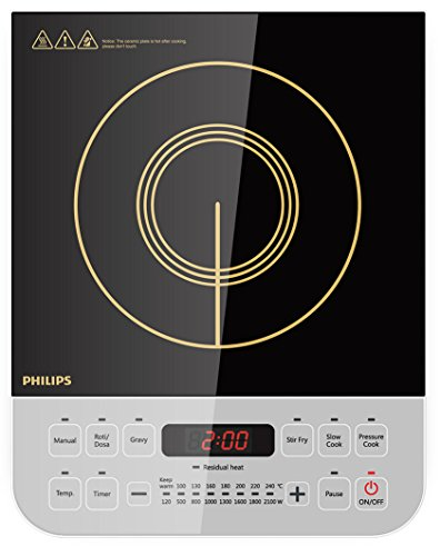 Philips Viva Collection HD4928 2100-Watt Induction Cooktop (Black)