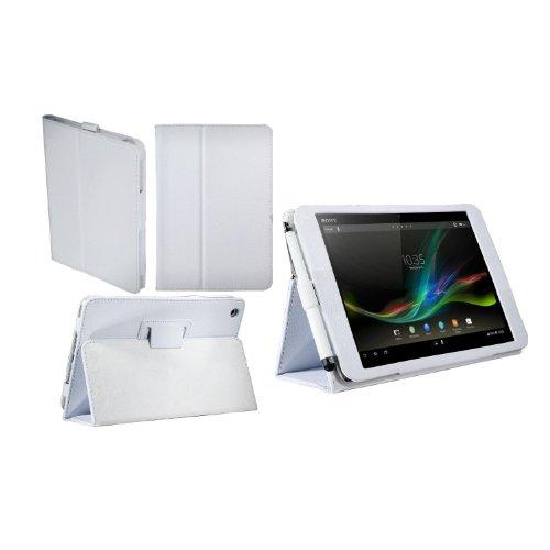 Navitech 白 合皮 カバー Sony Xperia Tablet Z SGP312JP  10.1インチサイズ 専用