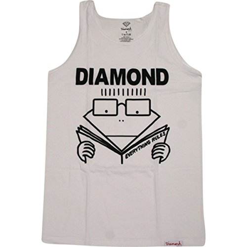 Diamond Everything Rules Tank [Large] White (Diamond Supply Co T Shirt Womens compare prices)