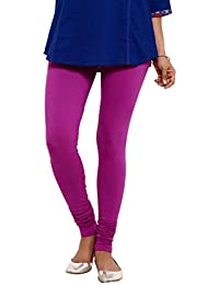 Aaboli Purple Cotton Lycra Regular Fit Cotton Knit Churidar