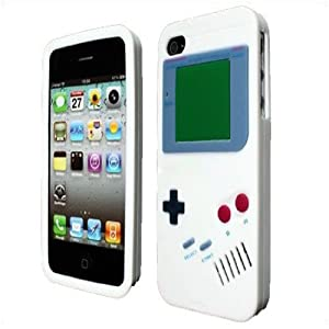 LE IPHONE 4 GAMEBOY DESIGN SILICONE SKIN CASE, BY CELLAPOD CASES WHITE