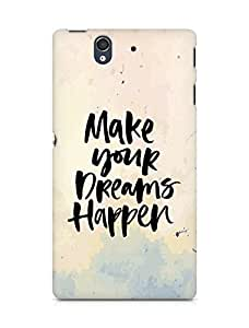 AMEZ make your dreams happen Back Cover For Sony Xperia Z