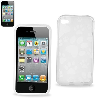 Polymer Protector Crystal Soft Gel Skin Cover Cell Phone Case With Screen Protector For Apple Iphone 4 16Gb 32Gb At&T - Clear