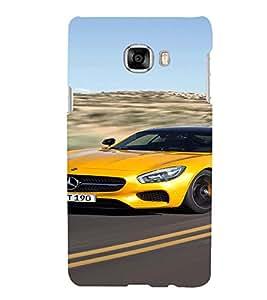 Printvisa Speeding Yellow Convertible Back Case Cover for Samsung Galaxy C7
