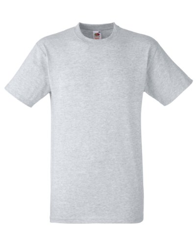 Fruit Of The Loom Men's SS003M Short Sleeve T-Shirt, Grey (Heather Grey), Large