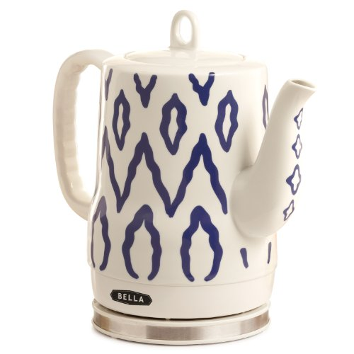 BELLA 13724 Electric Ceramic Kettle, Blue Aztec Design