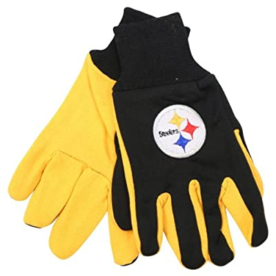 McArthur 9960690676 Pittsburgh Steelers Two Tone Adult Size Glove