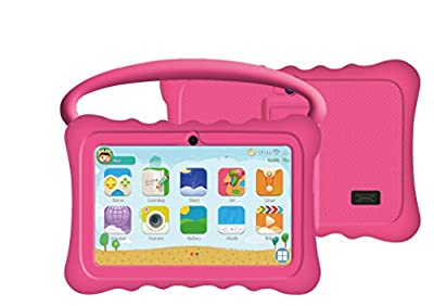 Auto Beyond 7inch Kids Tablet PC with Handle Silicone Case-Quad Core 1.2GHz,8GB ROM,Wi-Fi,Bluetooth,Dual Camera,Touchscreen,1024x600 Resolution,Google Android 4.4