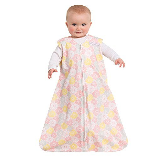HALO SleepSack Wearable Blanket Cotton Grey/Pink Flowers Large - 1