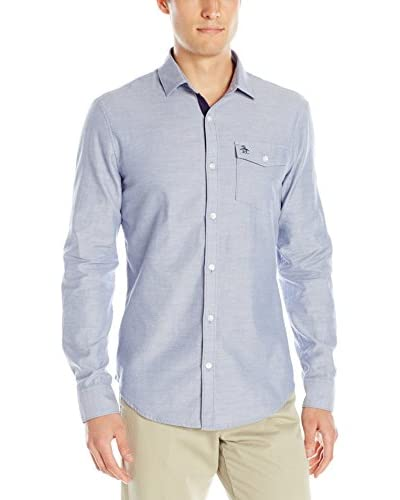 Original Penguin Men's Nep Herringbone Chambray Shirt