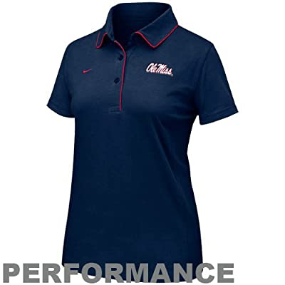 Nike Mississippi Rebels Navy Blue Ladies Dri-FIT Classic Polo