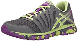 ASICS Gel Lyte 33 2 GS Running Shoe (Little Kid/Big Kid), Titanium/Sharp Green/Purple, 1 M US Little Kid
