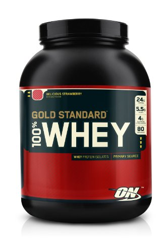 100% Whey Gold-Optimum Nutrition Instantized Whey Protein, 5lb Delicious Strawberry